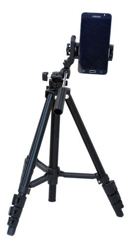 Imagen 1 de 10 de Tripode Benro P/ Foto + Adaptador Celular Smartphone 143,5cm