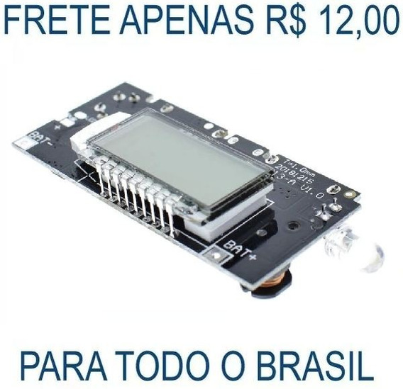 Placa Módulo Carregador Bateria 18650 Power Bank Usb Pcb Diy