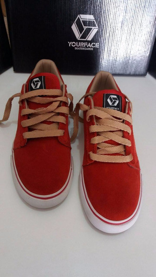 Tênis Yourface Skateboards - Ref. Mb-624 Vermelho