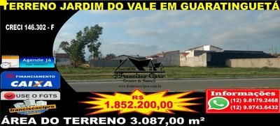 Terreno A Venda No Bairro Jardim Do Vale Em Guaratinguetá - - Tr096-1