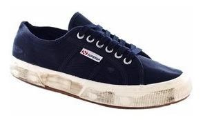 Sapato Sapatênis Tênis Superga 2750 - Cotu Stonewash Azul