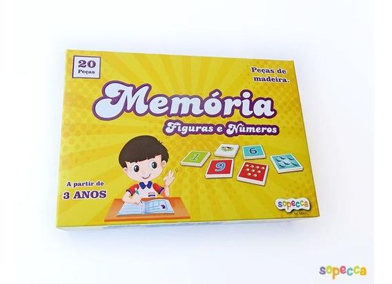 Presente Educativo Jogo De Memória Números E Figuras