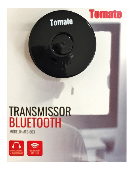 Adaptador Audio Transmissor Bluetooth Tv P/som Tomate N F
