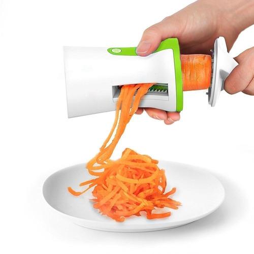 Máquina Cortar Vegetais Espaguete Vegano Abobrinha 3 Em 1