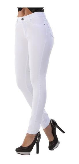 Calça Jeans Feminina Sawary Branca Hot Pants Com Lycra