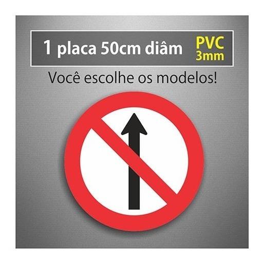 Placa Sentido Proibido - 50cm Diâmetro - Pvc 3mm