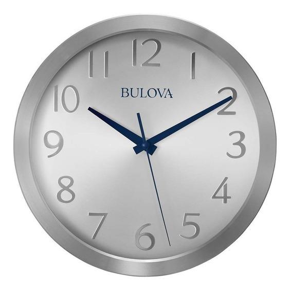 Reloj De Pared Bulova Winston 26 Cm De Diametro