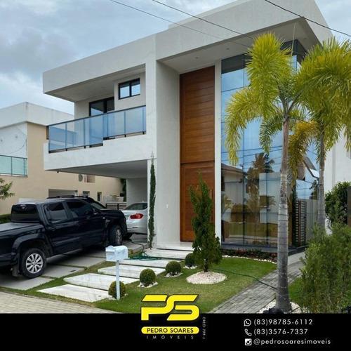 Casa Com 4 Dormitórios À Venda Por R$ 2.350.000 - Portal Do Sol - João Pessoa/pb - Ca0812