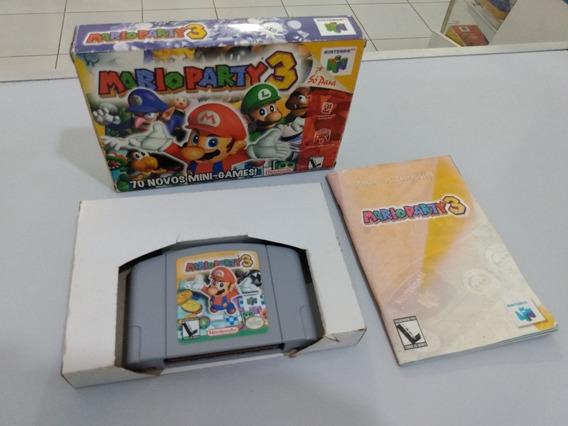 Mario Party 3 - N64 - Nintendo 64 - Caixa E Manual