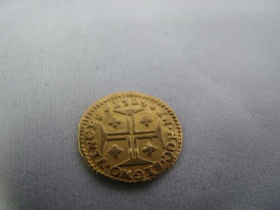 Moeda Ouro 22k 400 Réis Portugal D. João V 1723 1.1 Gramas