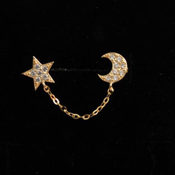 Estrela Da Lua Brincos Diamante Para Mulheres Partido