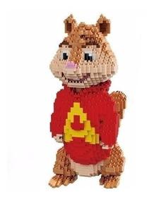 Brinquedo Alvin E Os Esquilos Blocos De Montar Micro Block