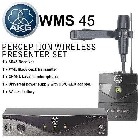 Micrófono Inalambrico Akg Tipo Balita Wms45 Presenter