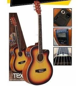 Guitarra Electroacustica Texas Ag60-lc5-ts Tex Tm
