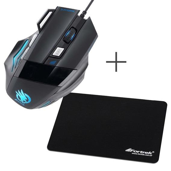 Kit Mouse + Mouse Pad Acessorios Para Computador Iluminado
