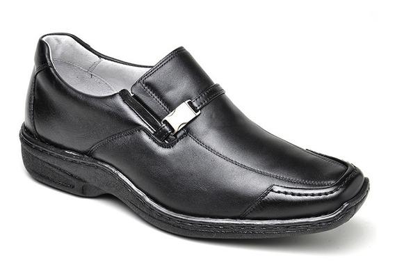 Sapato Social Masculino Ortopédico Esporte Fino Preto 811