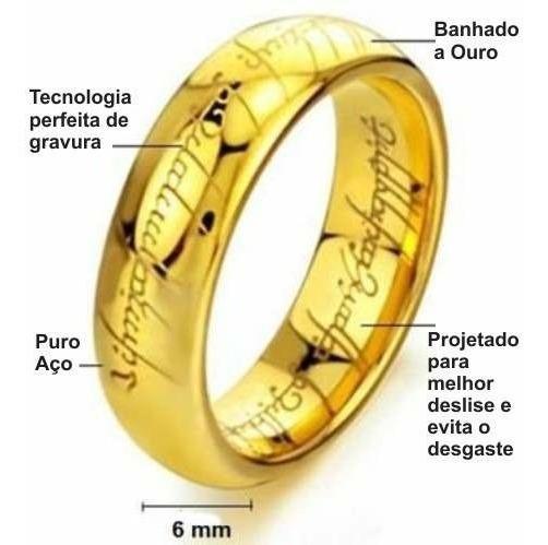Anel Senhor Dos Anéis Banhado A Ouro 18k Frete Grátis