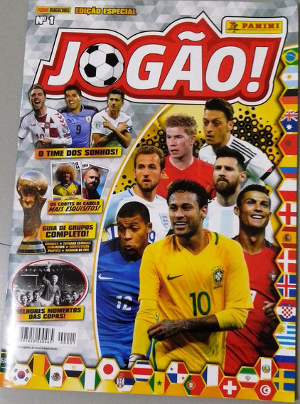 Revista Jogão Nº 1 Panini Copa Rússia 2018