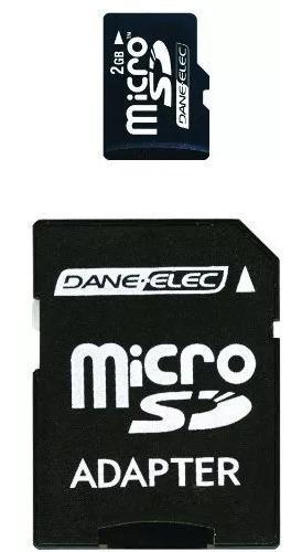 Dane-elec 2 Gb Microsd Cartão De Memória Flash Com Sd Adap