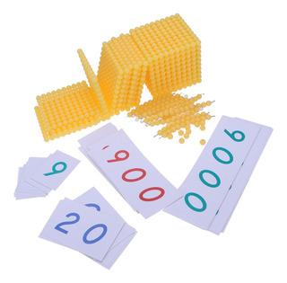 Montessori Matemáticas Juego De Banco De Madera Juguete De