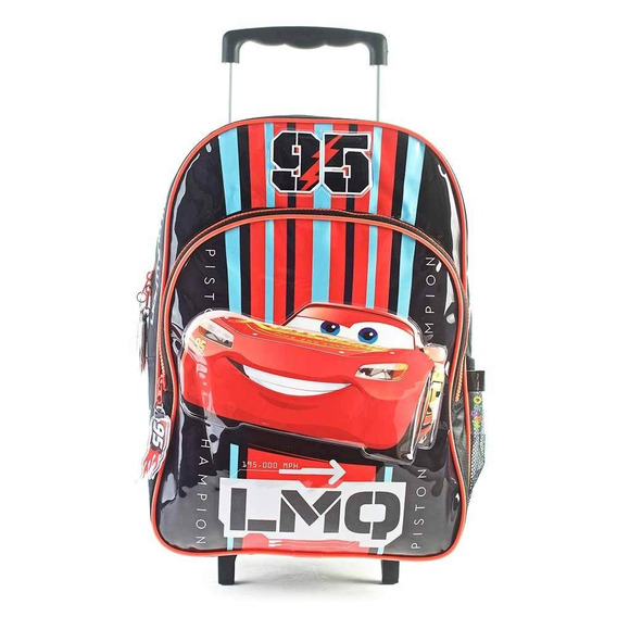Mochila Con Carro Cars16 Pulgadas Ideal Primario Original