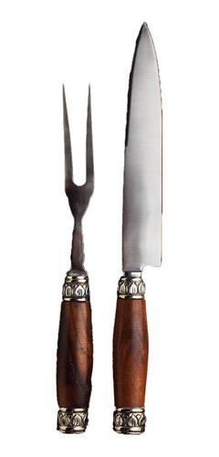 Juego Asado Real | Cuchillo Y Tenedor Para Parrilla