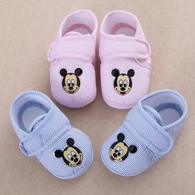 Sapatinho De Tecido - Mickey Para Bebês