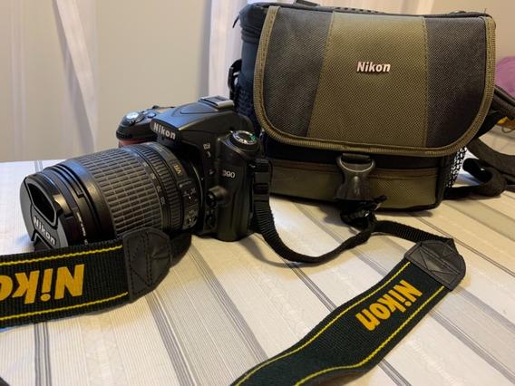 Camêra Nikon Dslr D90 Muito Nova - Lente 18-105vr Completa