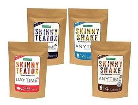 Combo Skinny Teatox Día Y Noche + 1 Shake Vainilla Y 1 Moka
