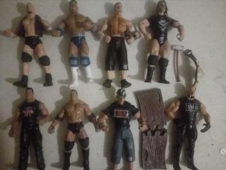 Lote 5 Figuras Wwe Stone Cold 2 The Rock Cena Hhh