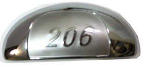 Par Maçaneta Externa Peugeot 206 Com 206 Cromada