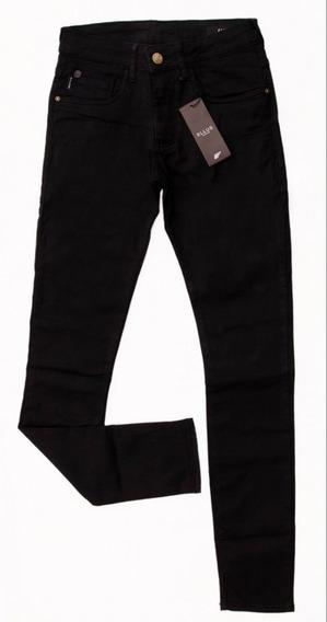 Calça Jeans Preta Masculina Ellus Original Slim Fit Stretch