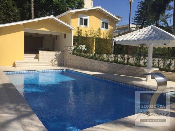 Casa Com 4 Dormitórios À Venda, 790 M² Por R$ 3.300.000.00 - Condomínio Santa Maria - Sorocaba/sp, Próximo Ao Shopping Iguatemi. - Ca0030
