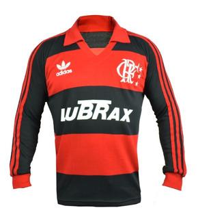 Camisa Retro Flamengo Lubrax Manga Longa 1988-1992