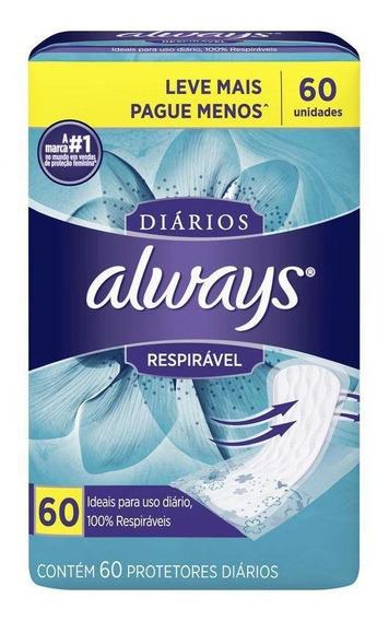 Protetor Diário Always Respirável C/ 60 Unidades