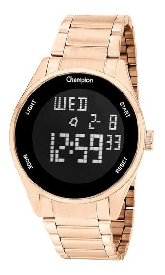 Relógio Champion Feminino Ch40231z Digital, Rose, Alarme