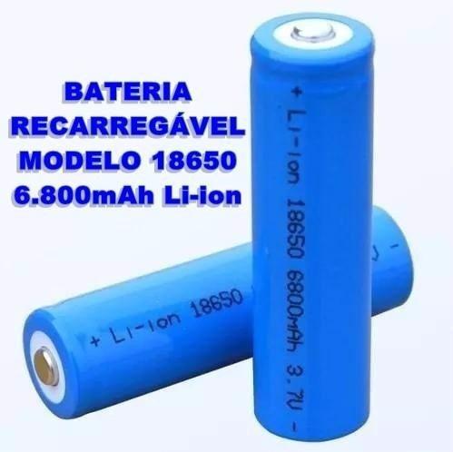Kit 20 Baterias Recarregáveis 6800mah Nk18650 3.7v 4.2v