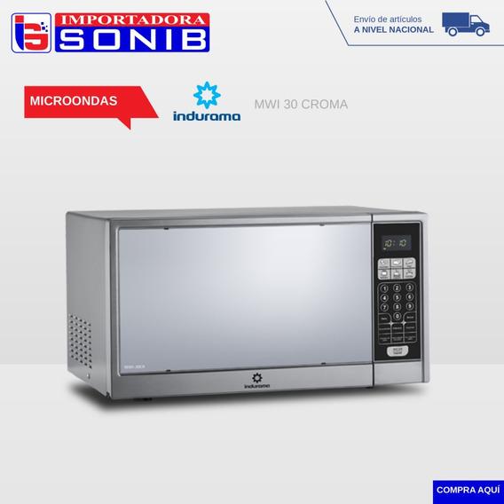 Microondas Indurama 30 Litros Croma Y Blanco