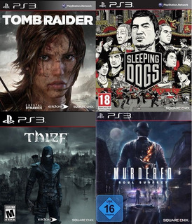 Tomb Raider + Sleeping Dogs + Thief + Murdered Soul Ps3