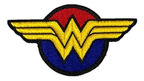 Parche Bordado Militar Tactico Superheroe Mujer Maravilla