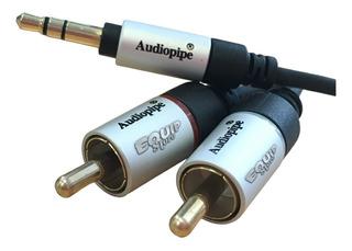 Cable Audiopipe Miniplug A Rca 3.5 Mm 90cm Aiq-s35rca-3