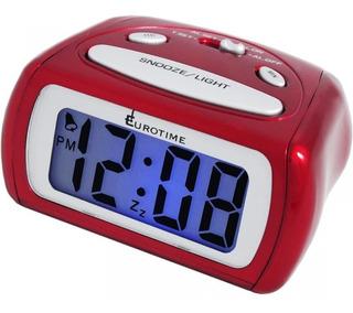 Reloj Despertador Eurotime Digital Luz Snooze Nros Grandes