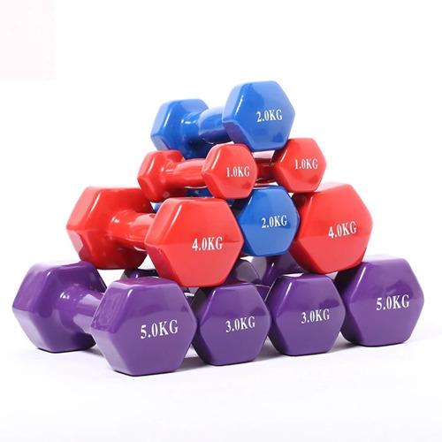 Imagen 1 de 1 de Mancuerna Easyfitness Hexagonal 6kg Neopreno
