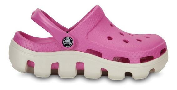 Crocs Originales Duet Sport Clog Rosa Unisex Hombre Mujer