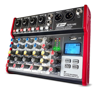 Consola De Sonido 6 Canales Bluetooth Mp3 Fx Xp Audio Se6