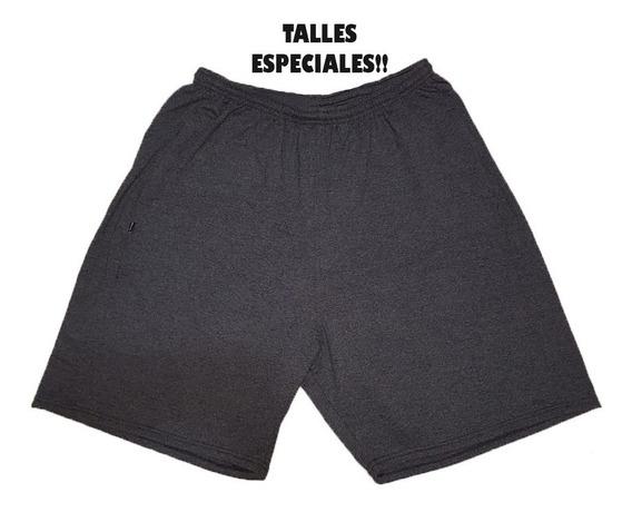 Short Algodón Bolsillos Con Cierre Talles Especiales 7 8 9 10 Y 12