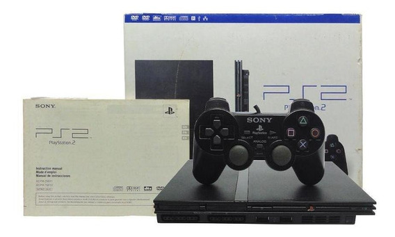 Console Playstation 2 Slim Preto Sony Pronta Entrega
