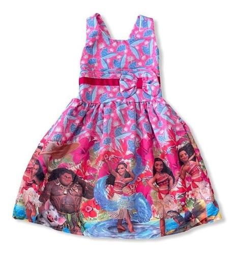 Vestido De Festa Infantil Temático Moana