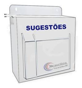 Caixa/urna De Sugestões- Reclamações Branca