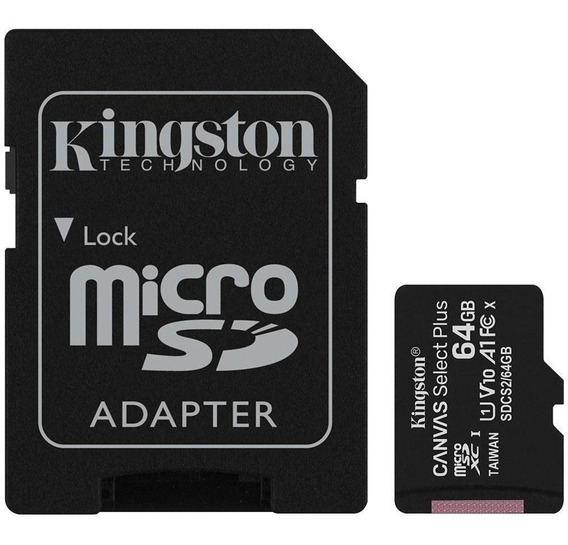 Cartão De Memória Kingston Canvas Select Plus 64gb 100mb/s